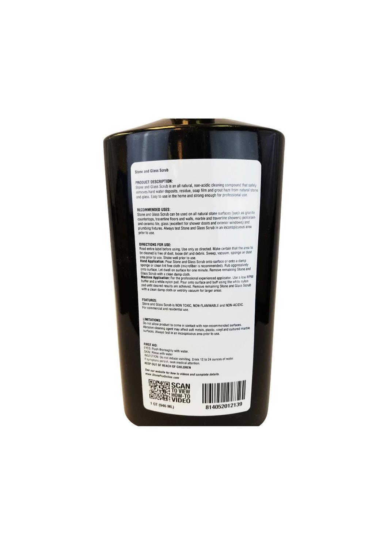 Stone Pro Stone & Glass Scrub Deposit Remover - Safe Abrasive Cleaner